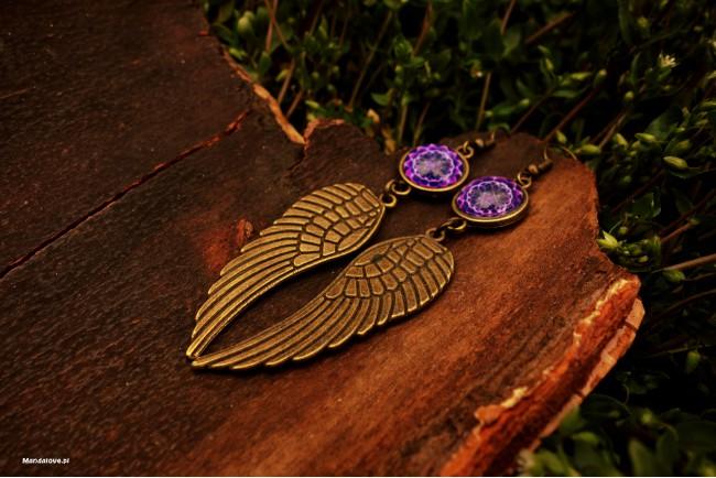 Kolczyki BOHO, skrzydła -...