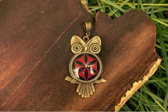 Wisiorek Sowa BOHO - Symbol...